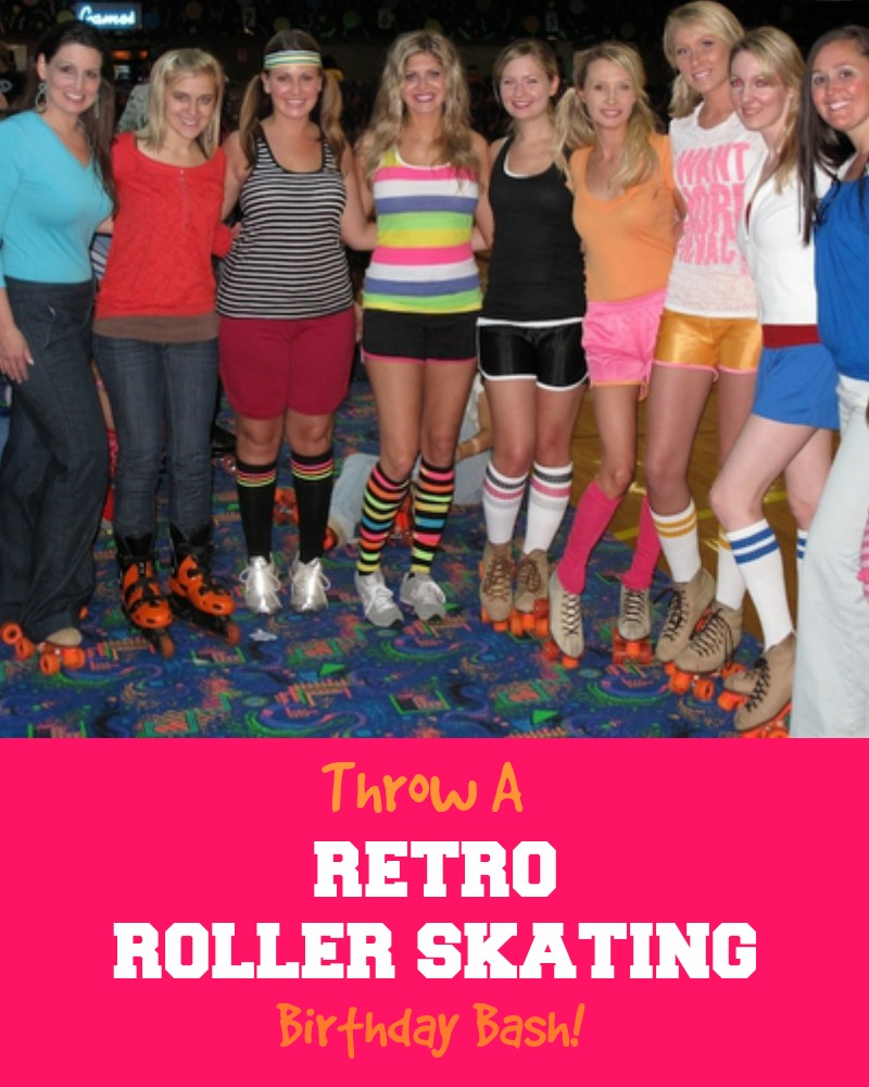 Retro Roller Skating Birthday Party Theme