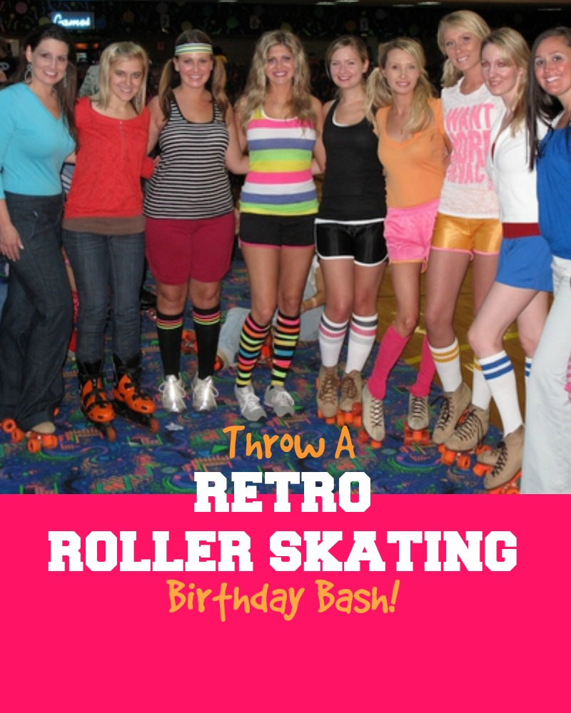Retro Roller Skating Birthday Party Theme