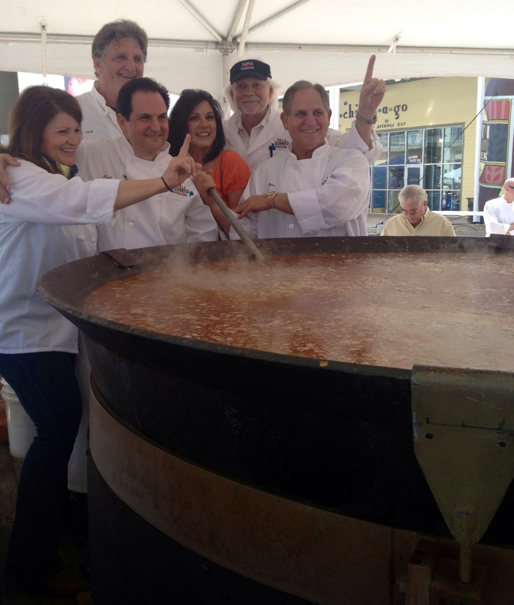 With John Folse making the world's largest pot of gumbo
