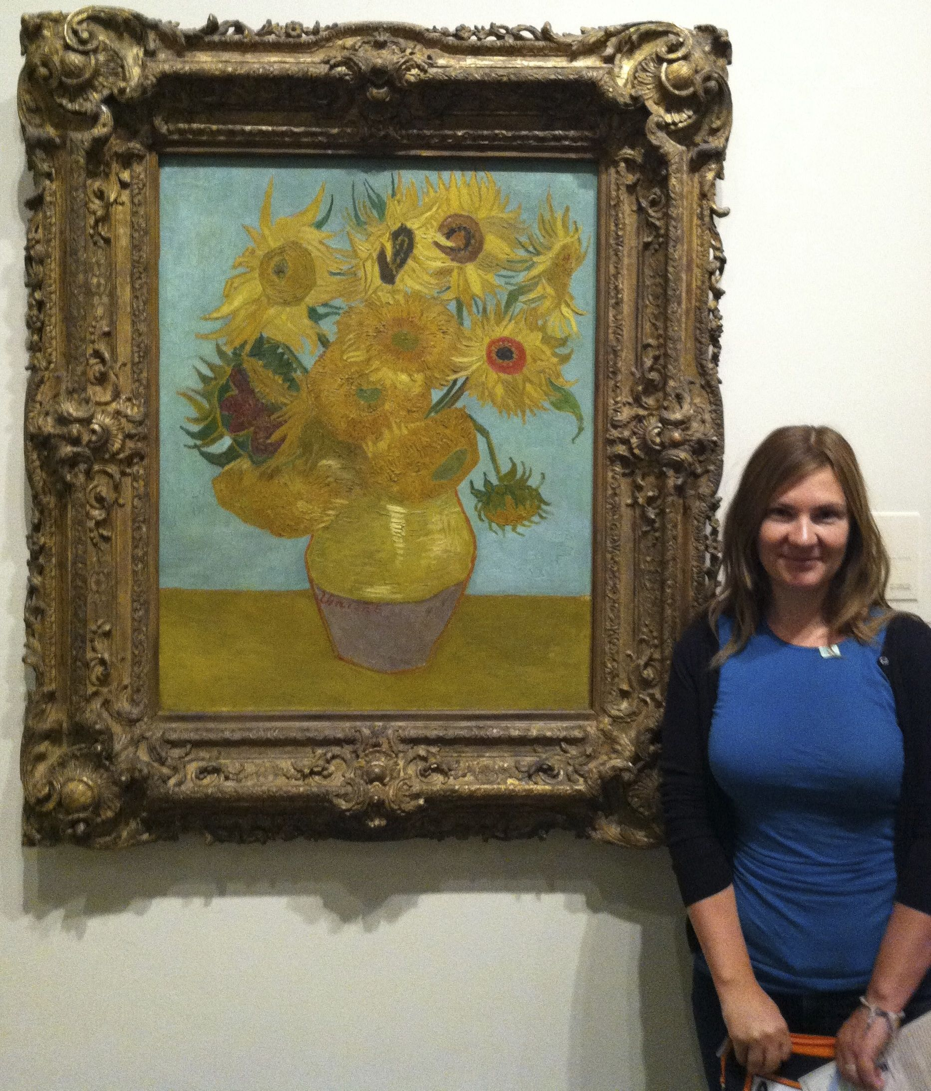 Van Gogh's Sunflowers in Philadelphia.  Traveling to see historical art is a new pursuit.