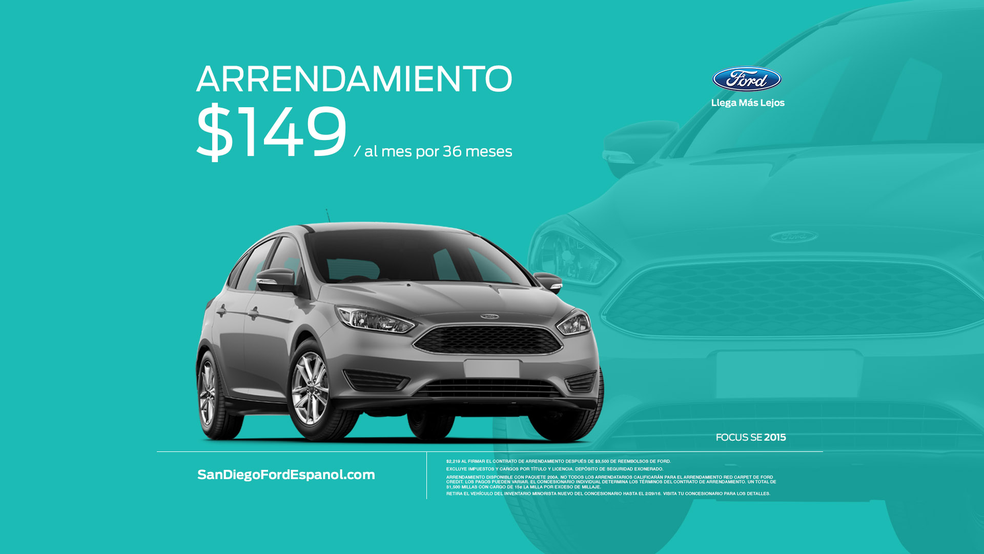 Ford Focus Offer Art Card