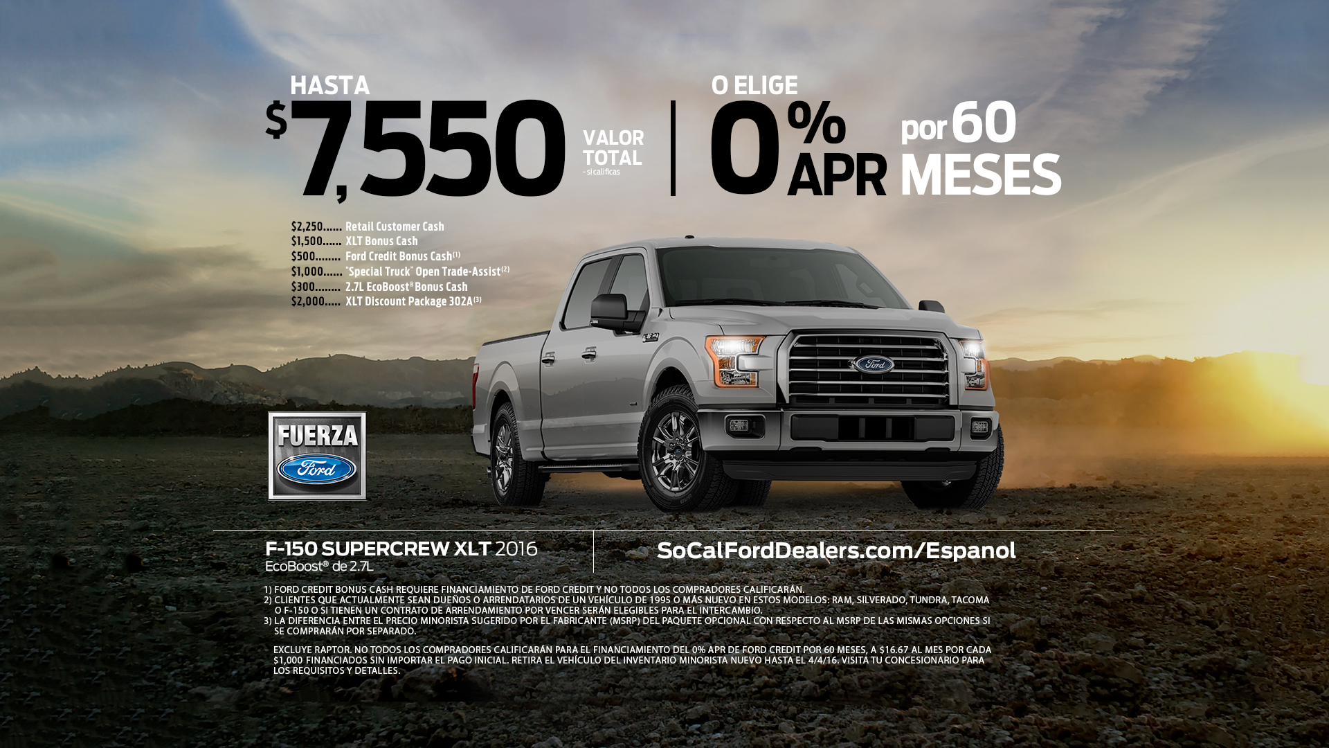 Ford F-150 Lease Offer Art Card