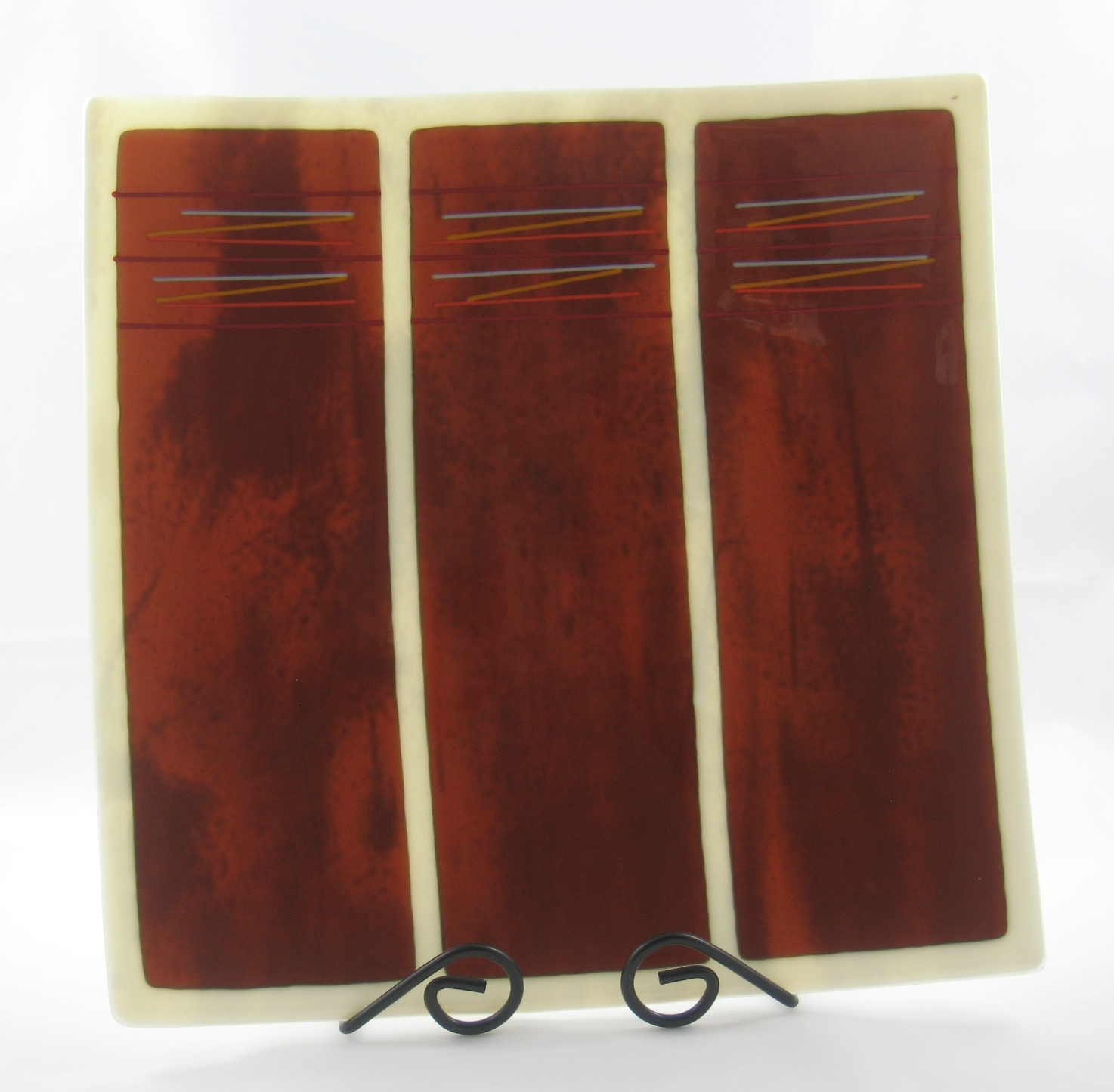 woodgrain platter