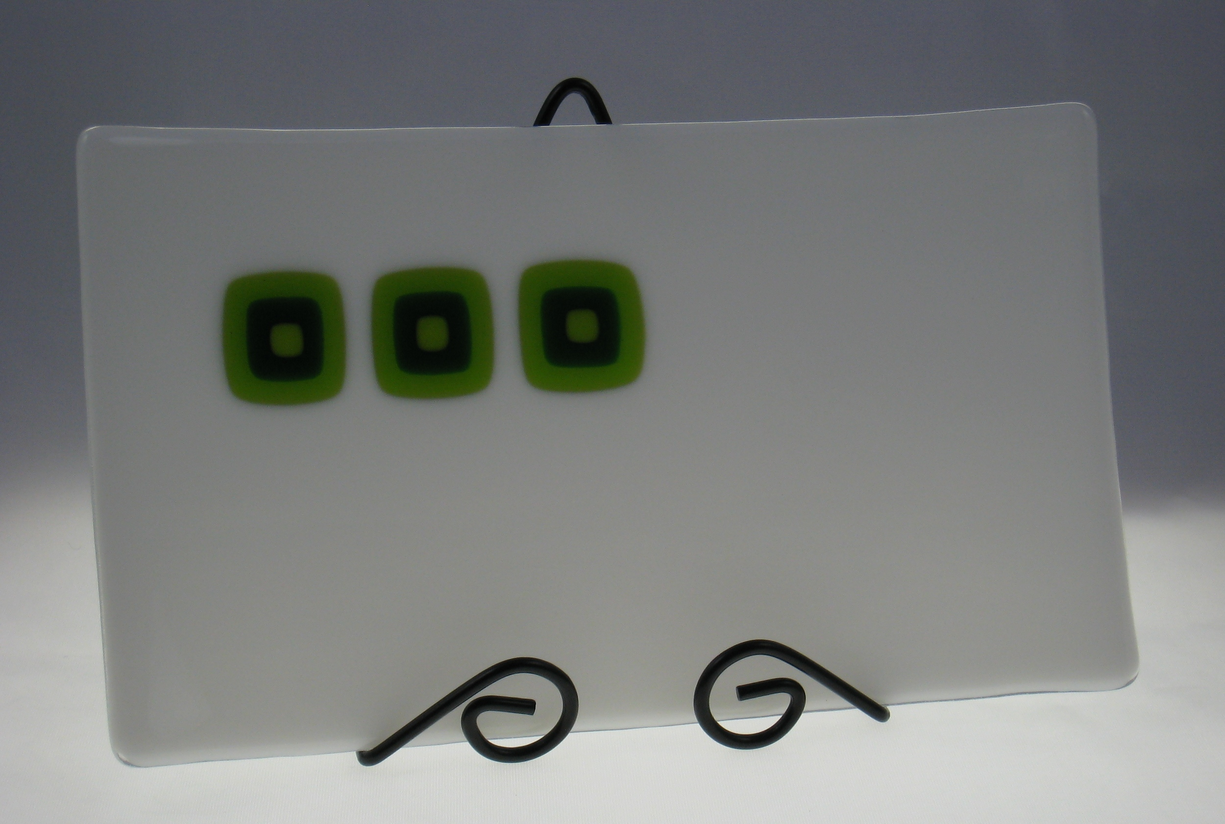 green tile plate