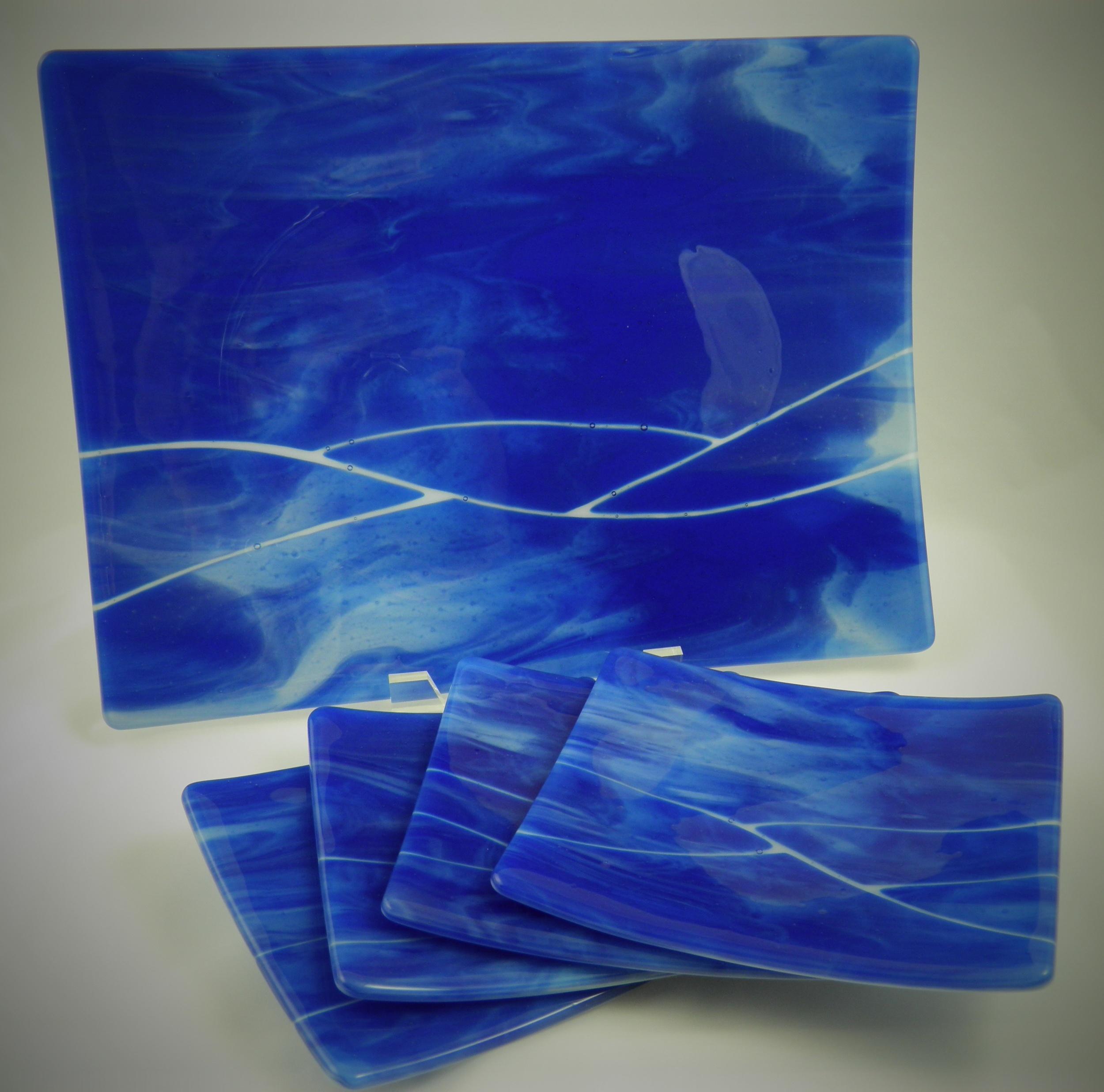 caribbean river platter & plates