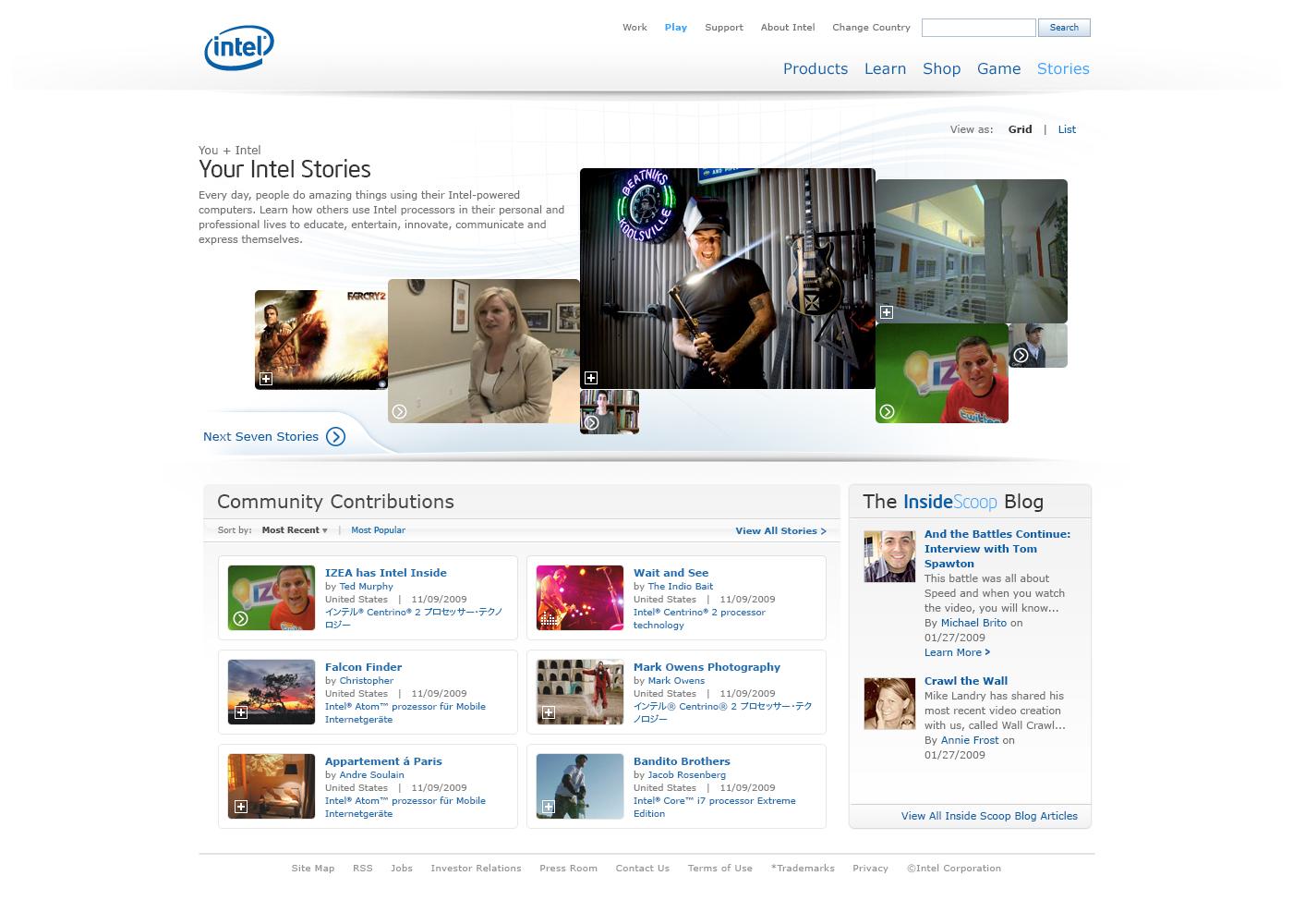 Intel Consumer Website