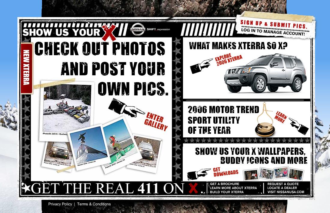 """Nissan Xterra """"Show Us Your X"""" Campaign"""