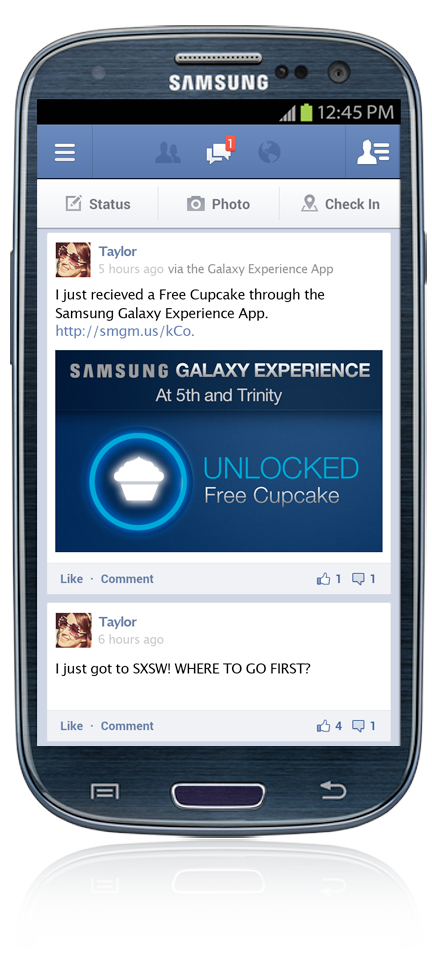 Custom App for Loyalty Program at SXSW. Samsung users could unlock 11 prizes throughout Austin.