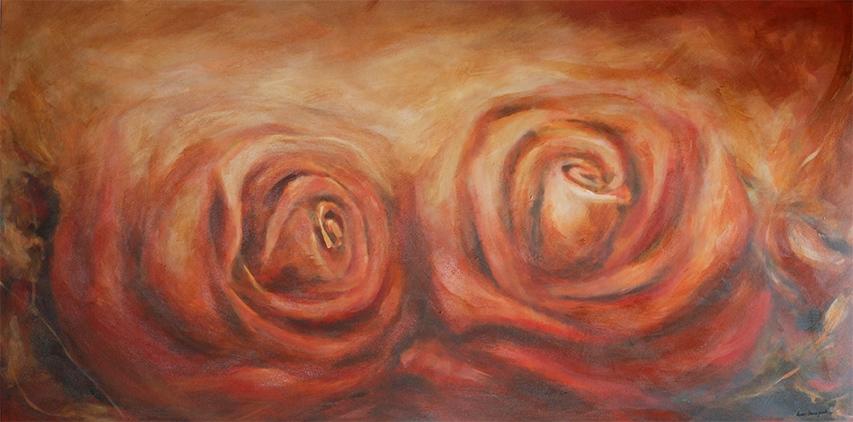 My valentine 36x72 acrylic on canvas