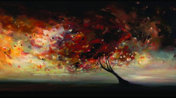 """Autumn kaleidoscope 24"""" x 48"""""""