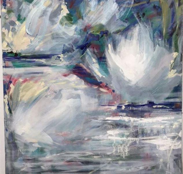 "white pond karen lorena parker 36"" x 36"""