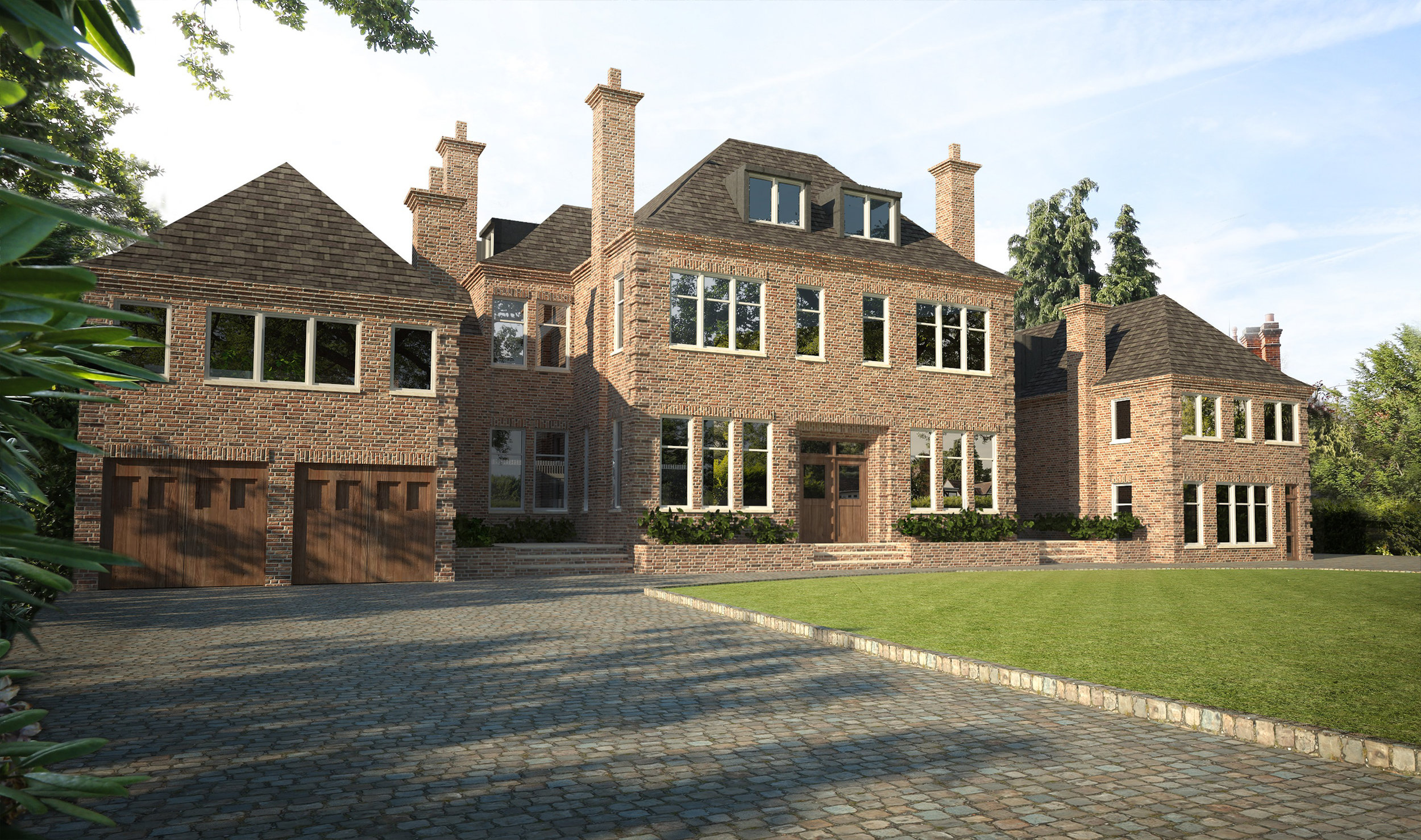 New build 1900sqm residential development, two detached houses on Broad Walk in Winchmore Hill.