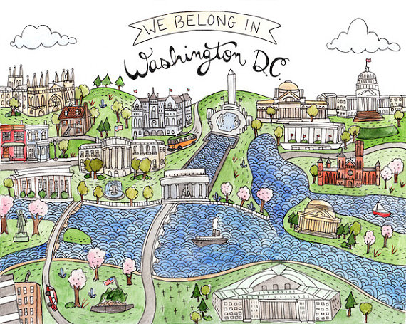 We Belong in Washington DC, by Brooke Weeber