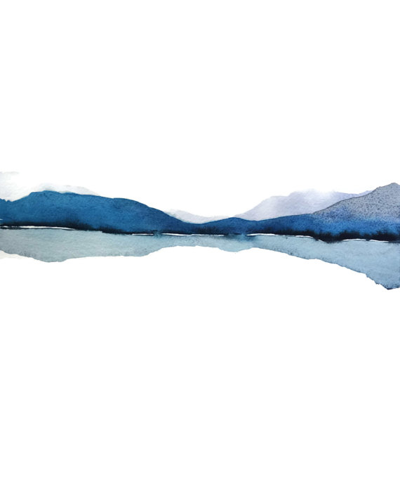 Mountain Reflection by Nancy Knight,NancyKnightArt.etsy.com