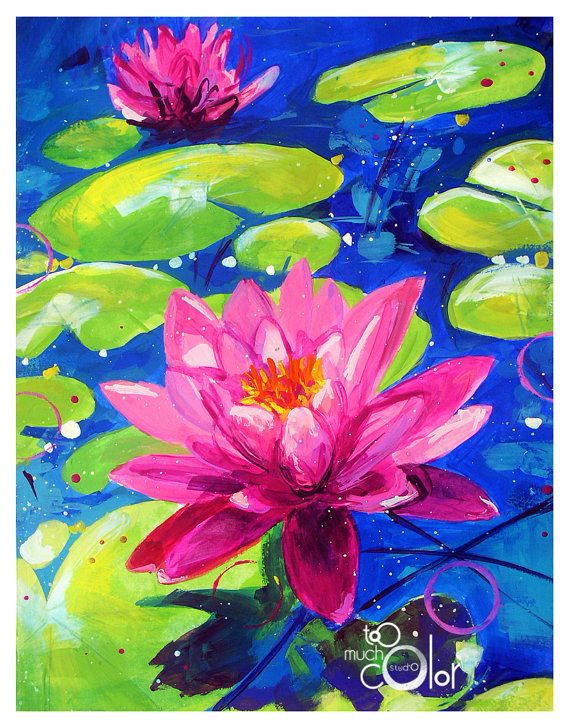 Water Lilies by Sandra at Too Much Color Studio