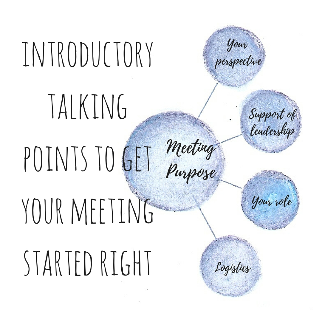 meeting talking points
