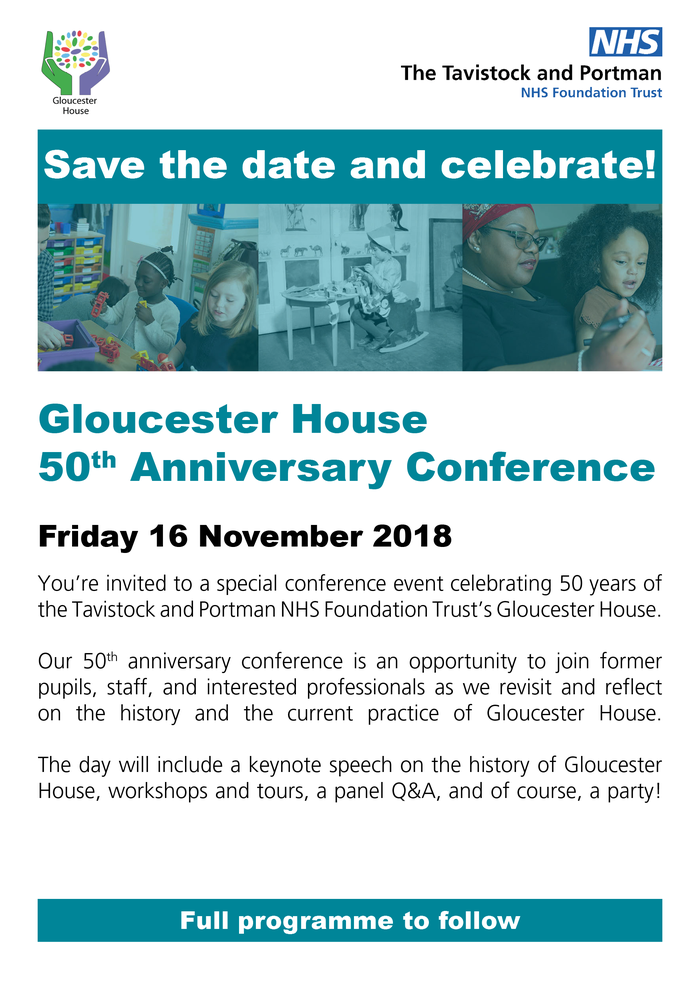 Gloucester House 50th Anniversary conference poster 2018