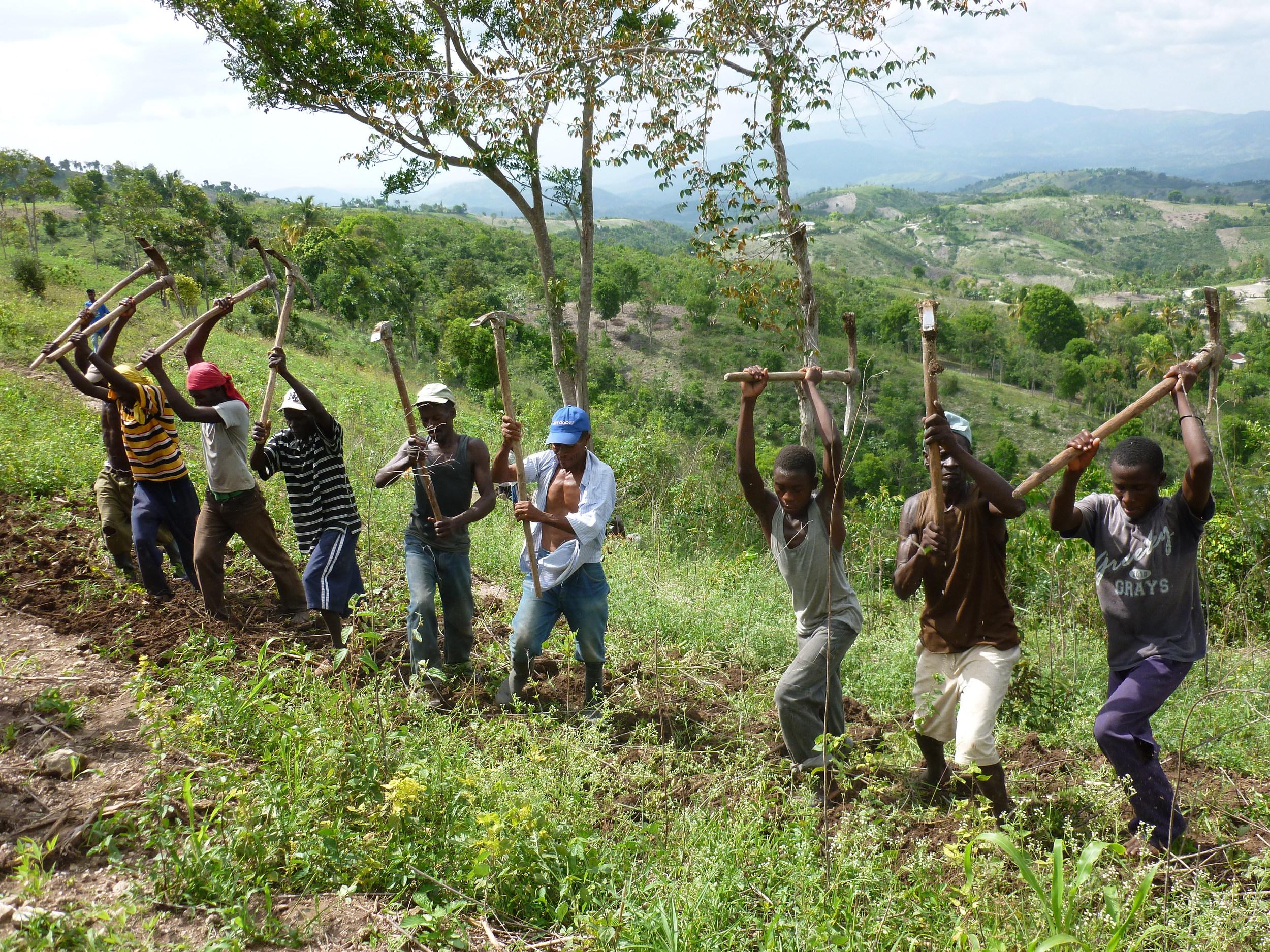 A Kombit in a Community Work event. Haiti, 2014.