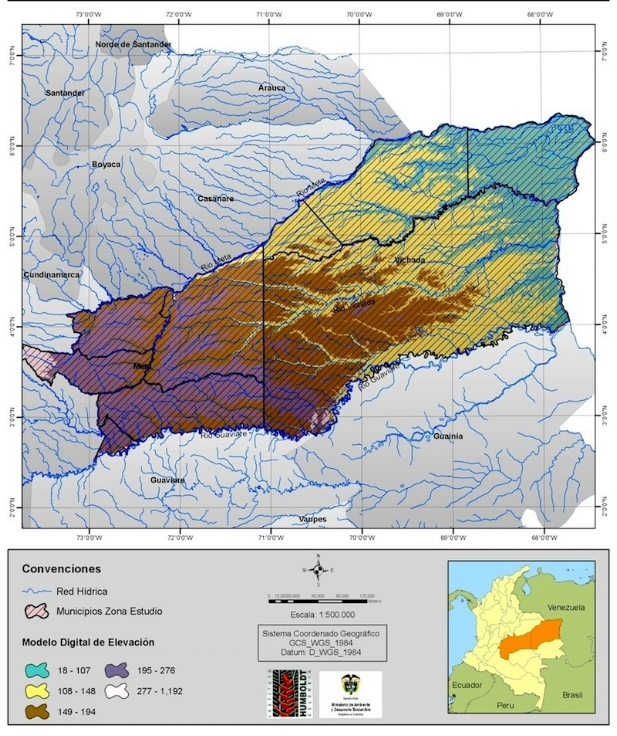 The Altillanura Region in Eastern Colombia. Source: Instituto Geográfico Agustín Codazzi IGAC
