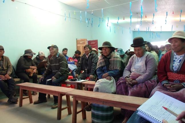 Meeting of the cooperative SOPROQUI, community of Aguaquiza, Nor Lipez (Photo: Maurice Tschopp)