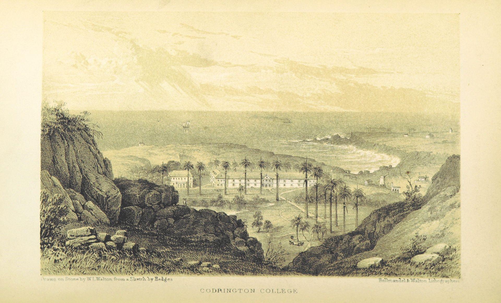 PHOTO CREDIT: Codrington College on Barbados. Illustration drawn from nineteenth century travel books