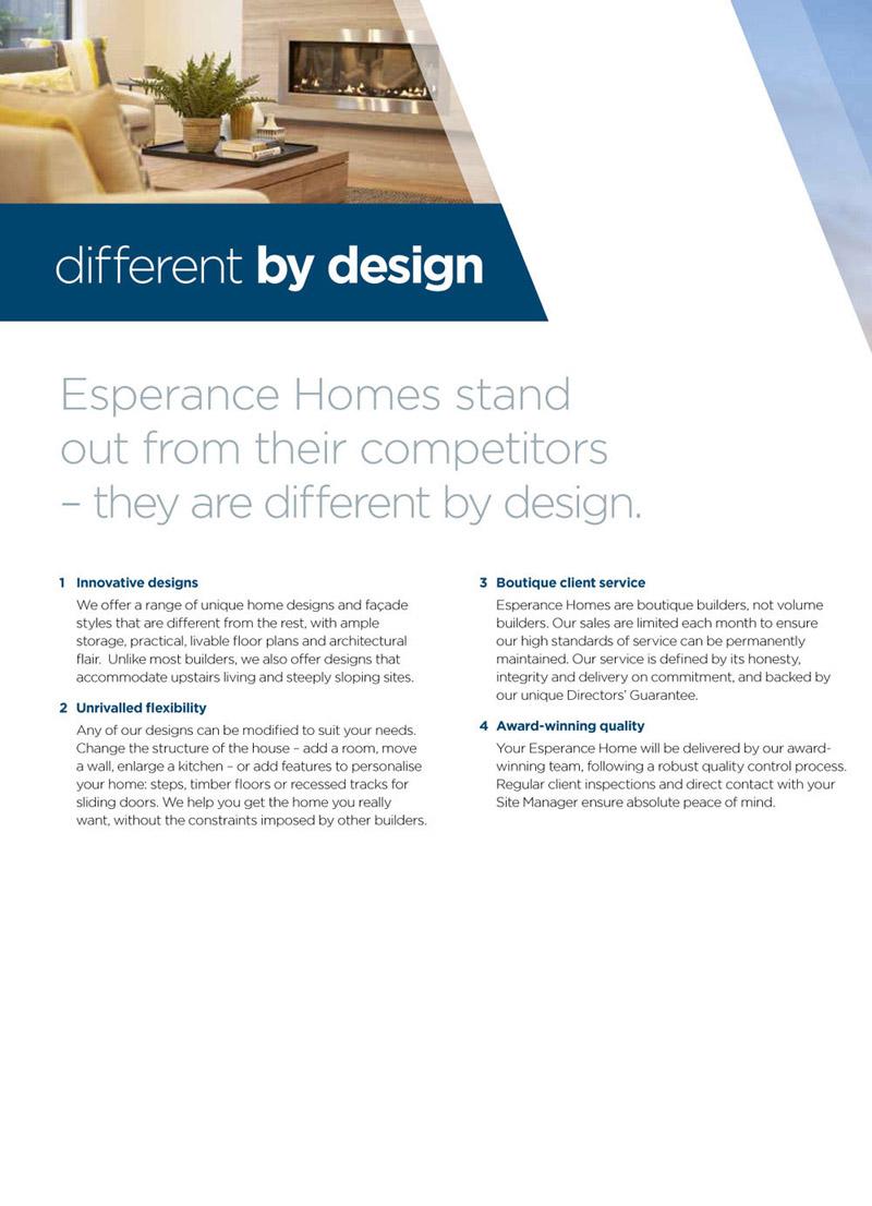 A4 Esperance brochure