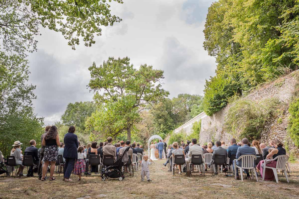 Mariage laique au Chateau de Vaugrignon, Esvres, Photographe