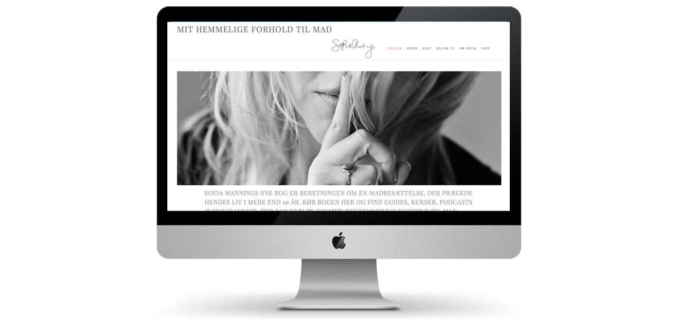Webdesign, webshop, forum og blog til Sofia Manning