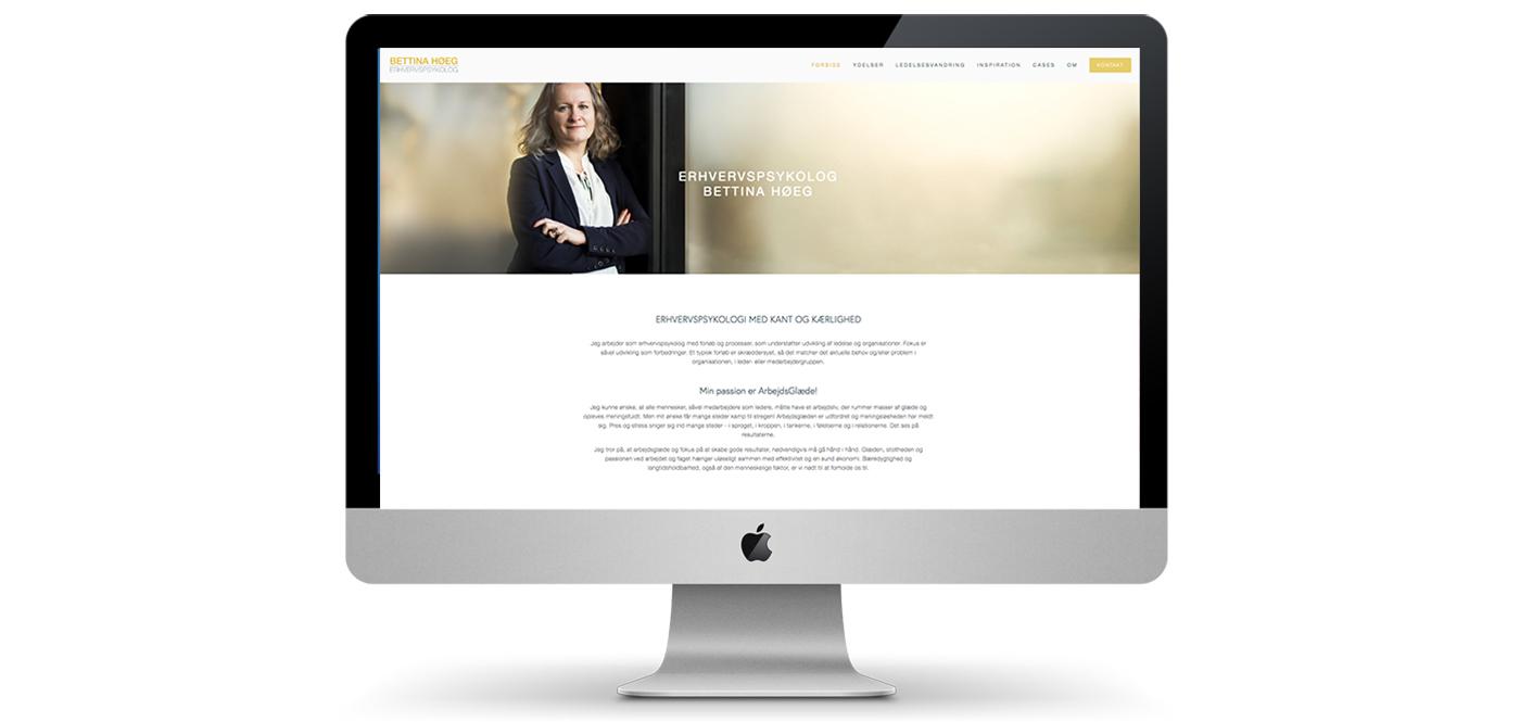 Website og grafisk identitet for erhvervspsykolog Bettina Høeg