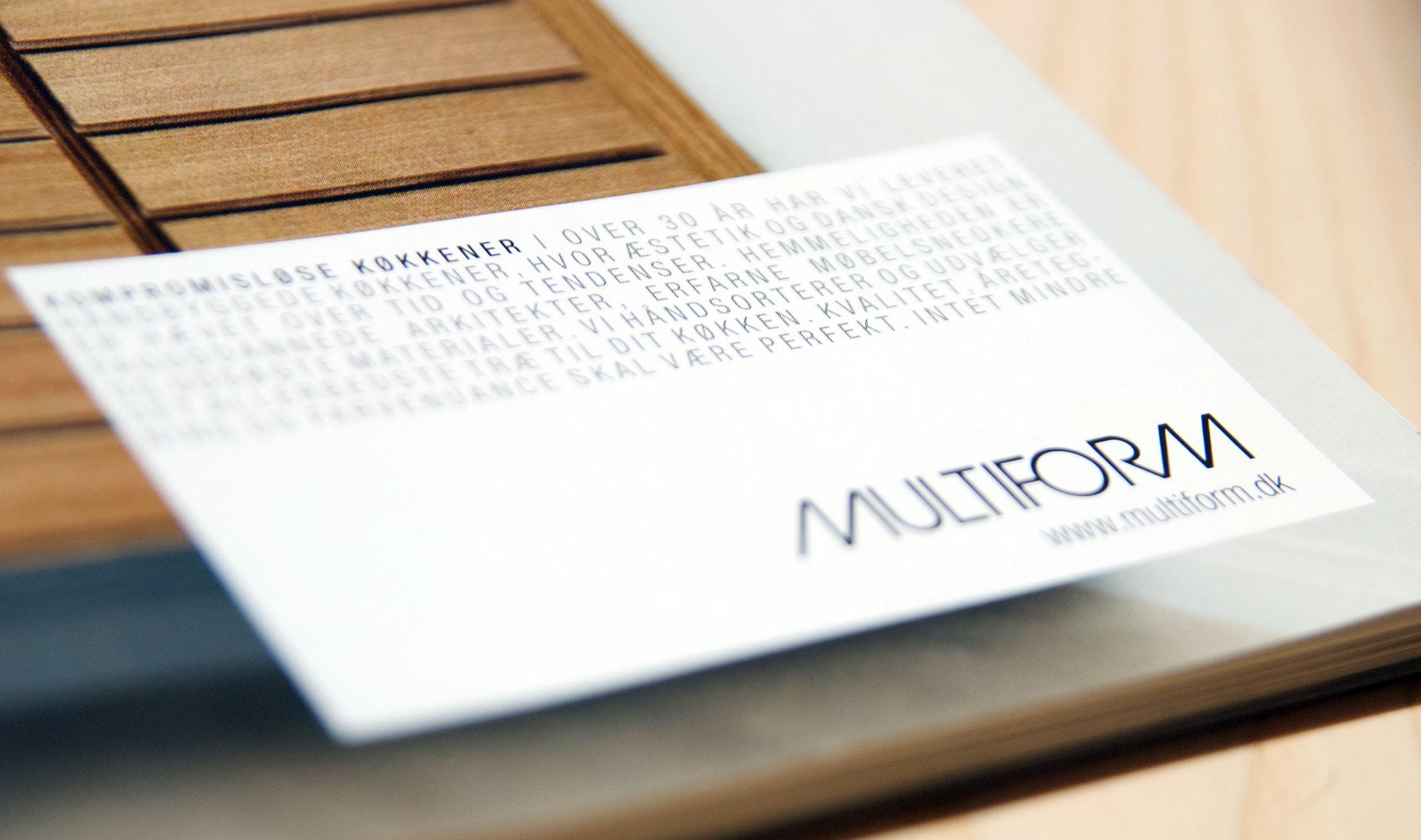 MULTIFORM Grafisk design - layout - annoncering