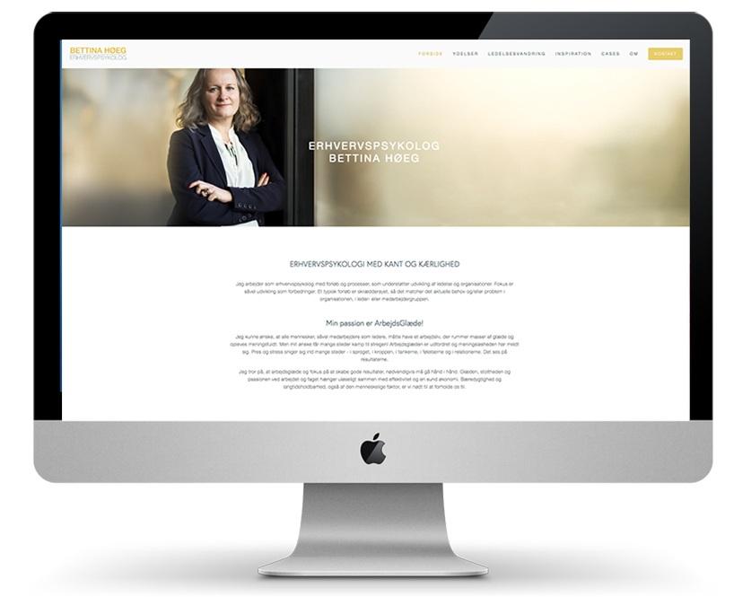 ERHVERVSPSYKOLOG BETTINA HØEG Webdesign & grafisk identitet