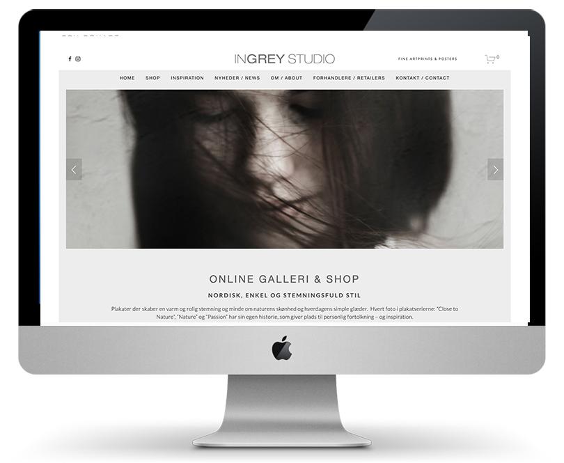 INGREY STUDIO Webshop og visuel identitet