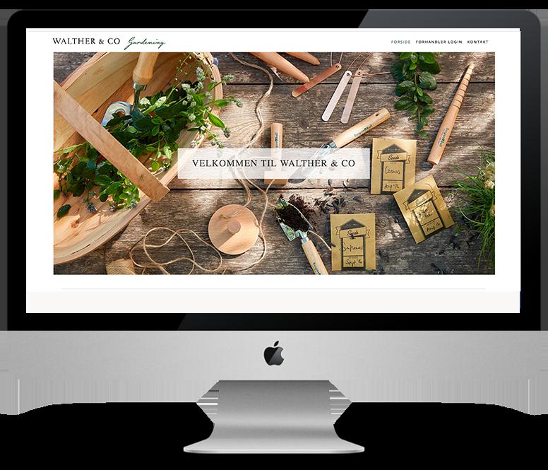 Hjemmeside & grafisk Identitet  for Walther & Co
