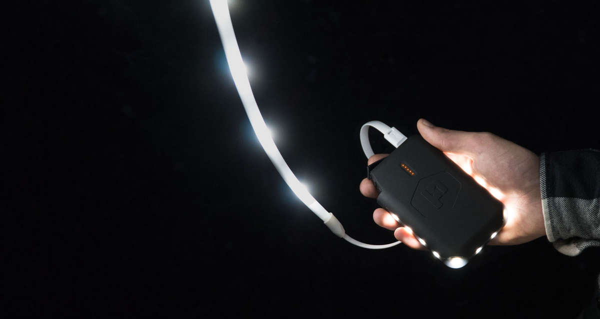 Portable Power - Rechargeable, convenient, and ready to run your Luminoodle or charge your usb devices while on-the-fly.