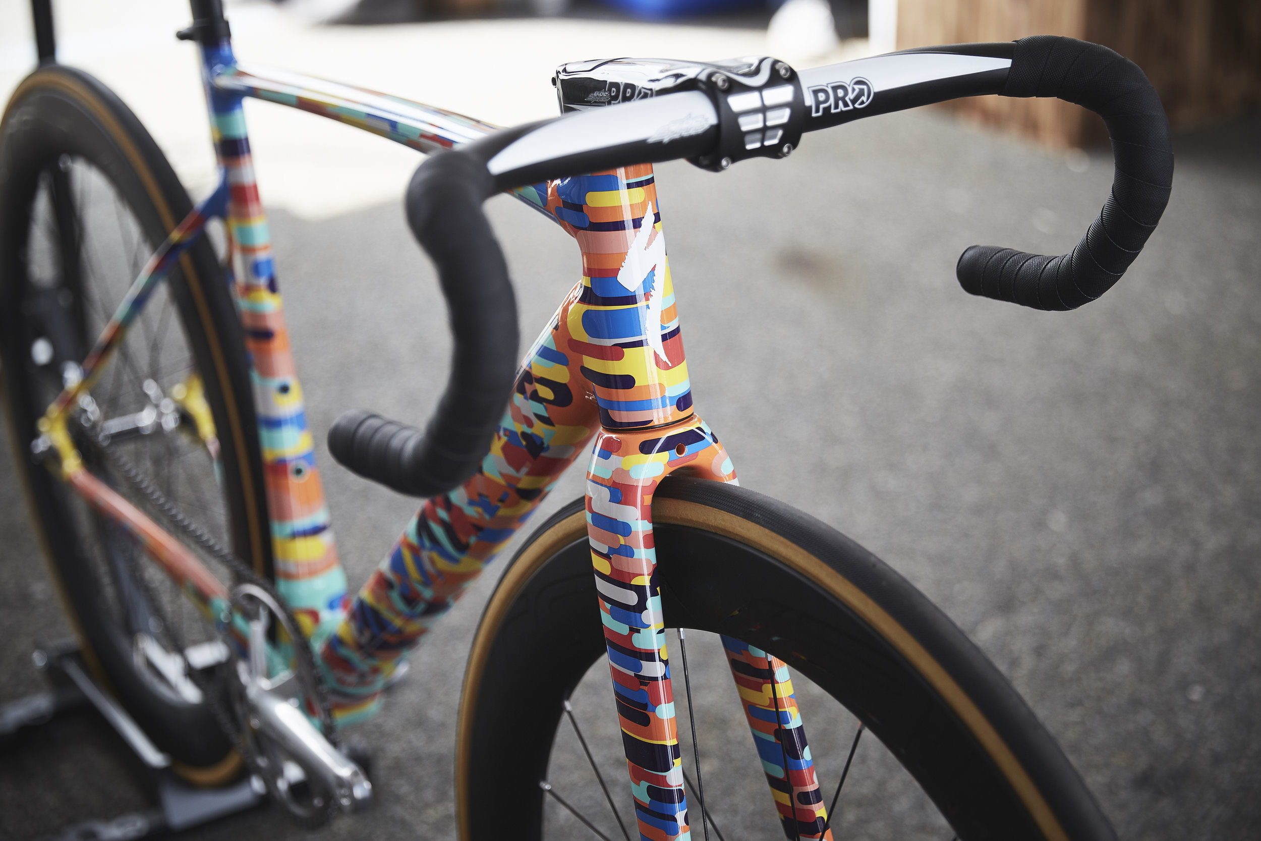Specialized unvieled a bike with custom artwork in honor of the 10th anniversary of the Red Hook Crit.