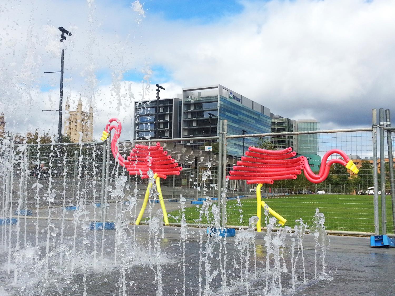 2 flamingos-pool noodles-fence art.jpg
