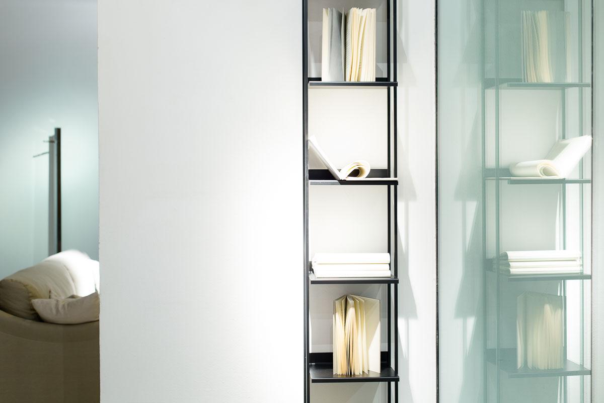 Lanzi mensola libreria porta libri metallo moderna minimal made in italy alluminio fatta a mano library for books metal minimal modern aluminum made in Italy handmade