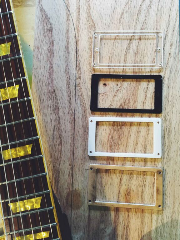 Pick guards made with the laser etcher