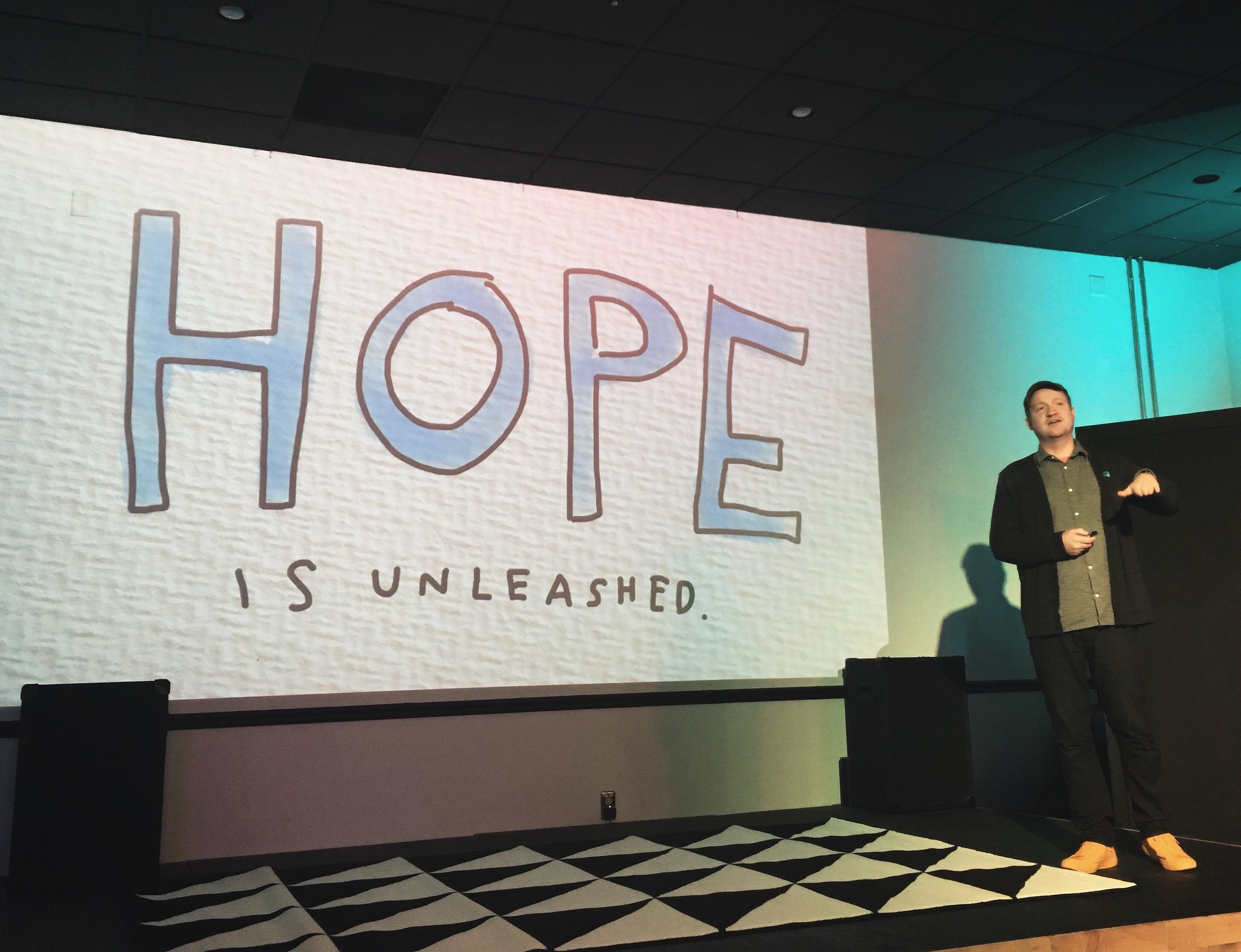 Kid President creator Brad Montague was one of our featured speakers at our February lunch series, MakeShift. He also inspired us at Our Jackson Home's A Night of Storytelling at theCOtoberfest.