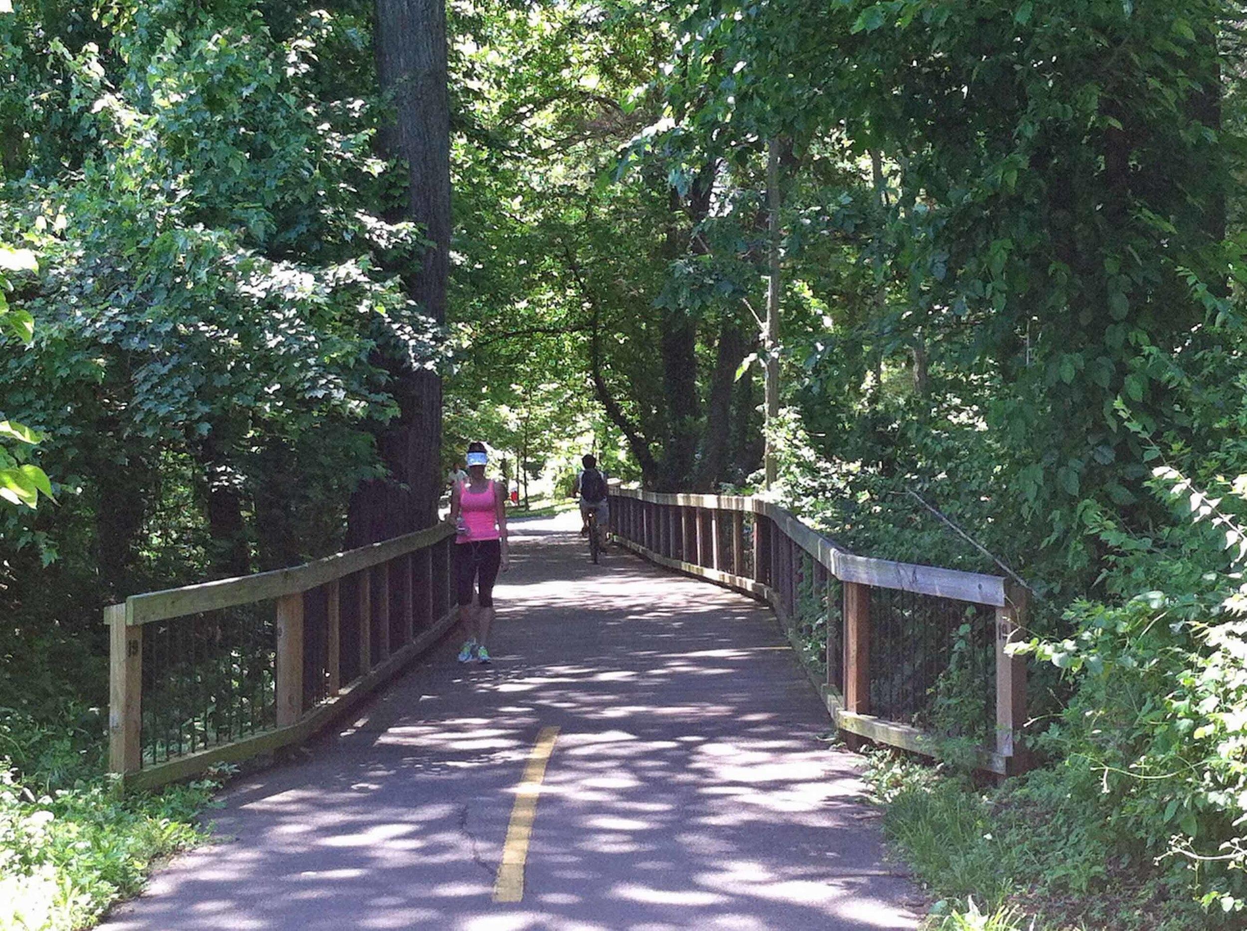 walker on Mt. Vernon trail