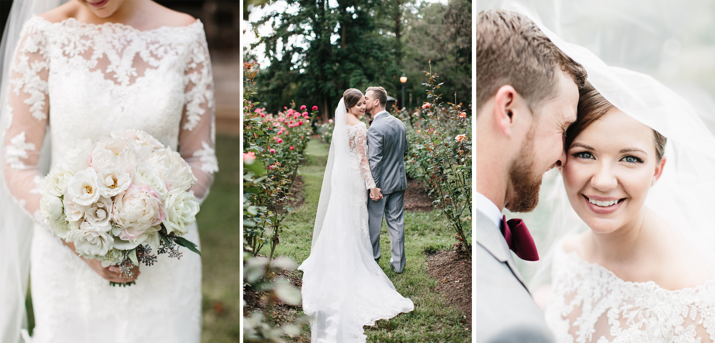 Raleigh Wedding Photographer. Raleigh Rose Garden.jpg