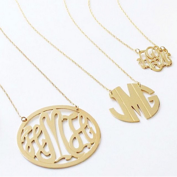 Gold Filled Monogram Necklace