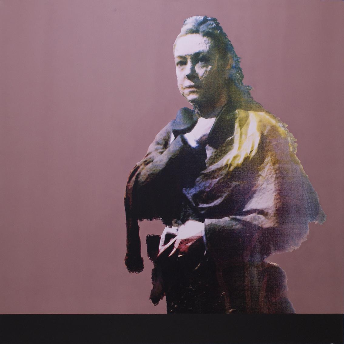 1601 Ecamor  3D scan, CMYK screen-print, acrylic on canvas 90 x 90 cm 2017