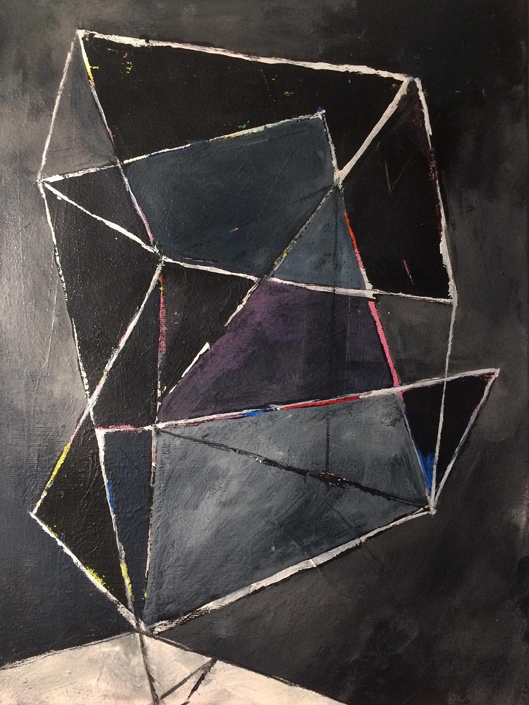 Untitled  Acrylic on canvas 40 x 30 cm 2016