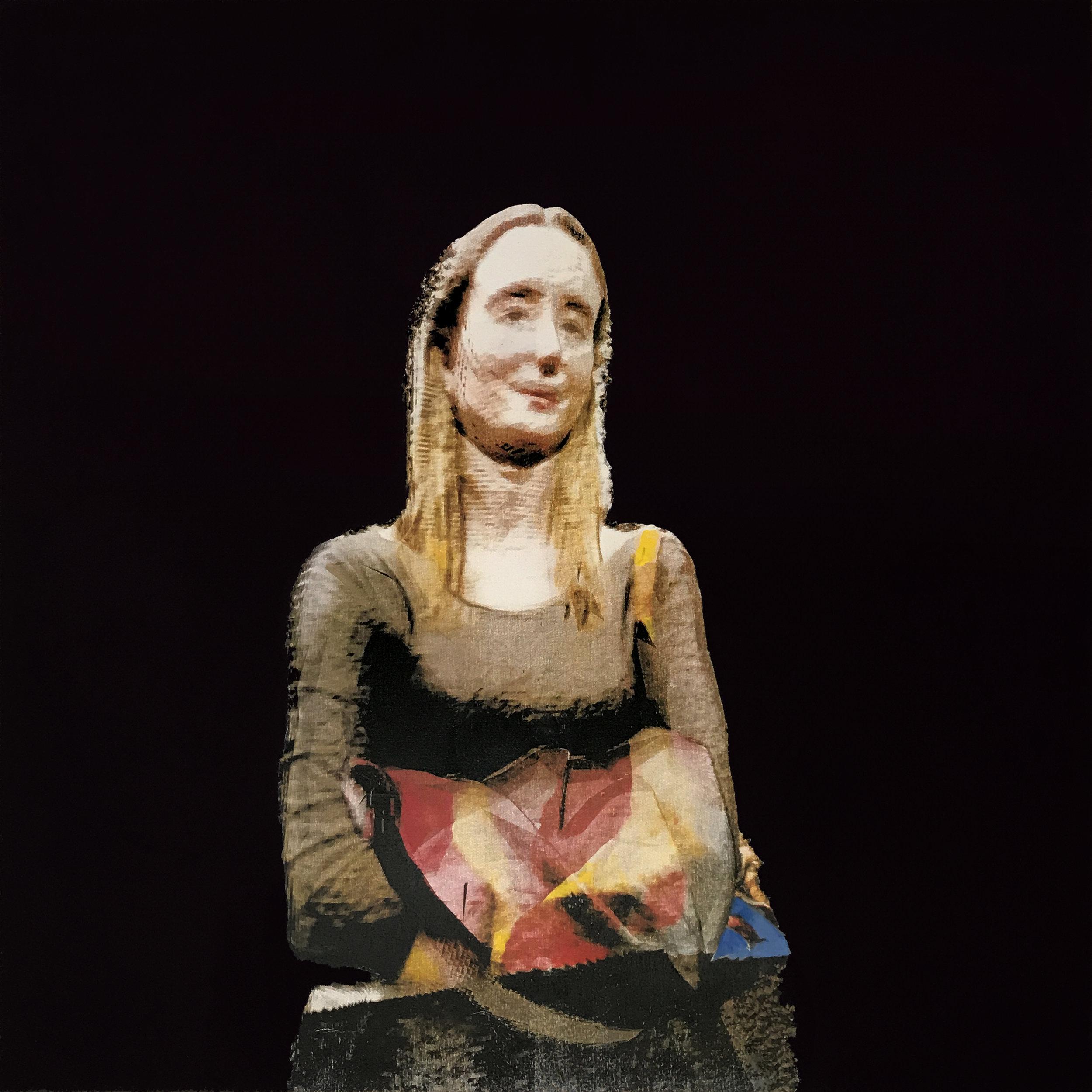 1501 Tekinca  3D scan, CMYK Screen Print, Acrylic on canvas 120 x 120 cm 2017