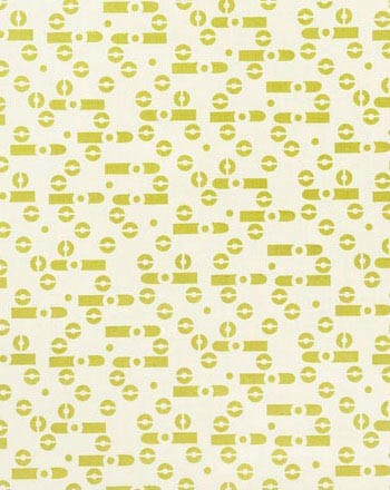 ALEXANDER I COLOR #13  Playful and postmodern lime green markings. Printed on 100% silk, Oyster.