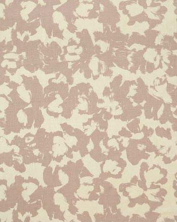 AVA I COLOR #1   A delicate Monet in lavender. Printed on 100% silk, Matka Off White.