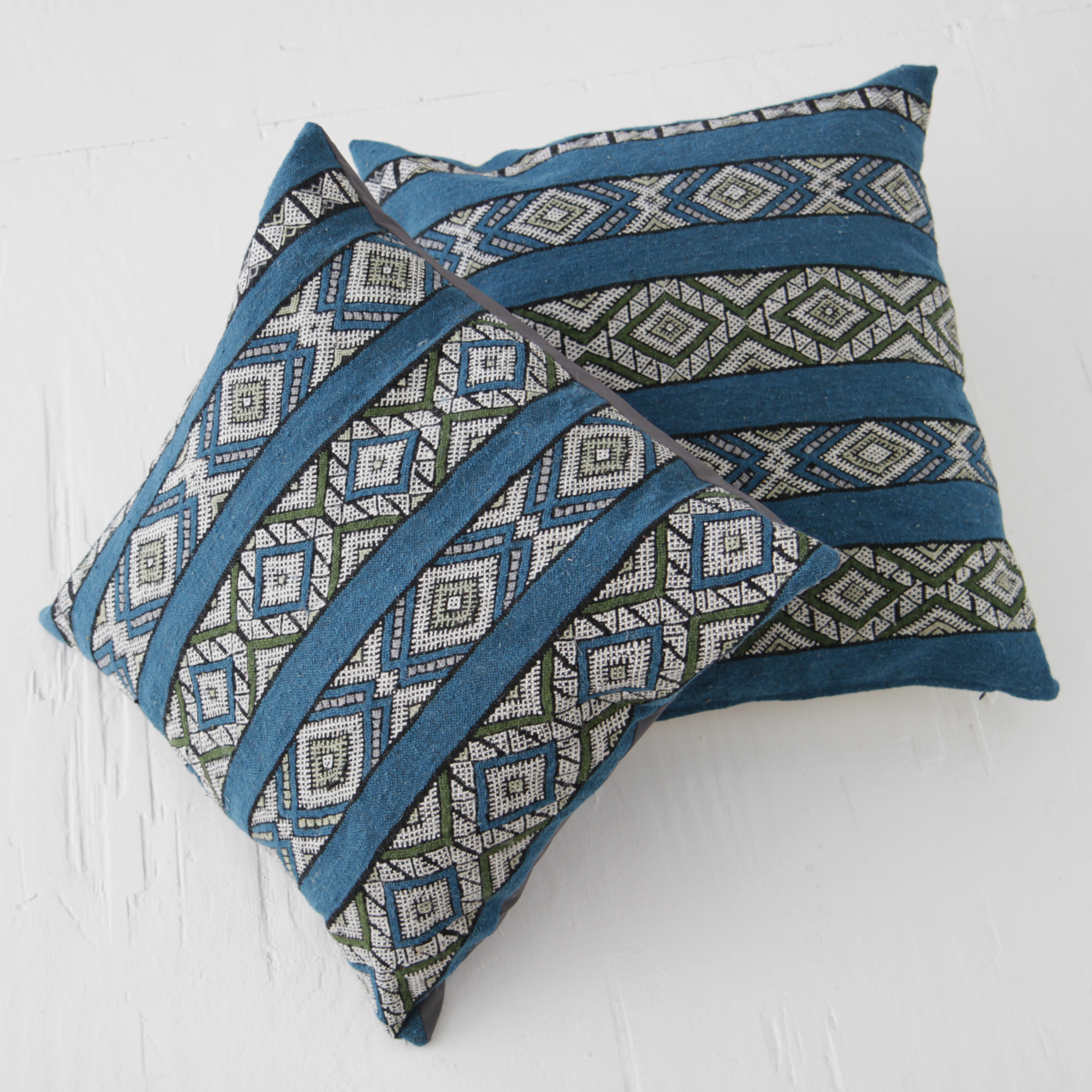 MOROCCAN PILLOW COLLECTION  Made in Morocco's High Atlas region