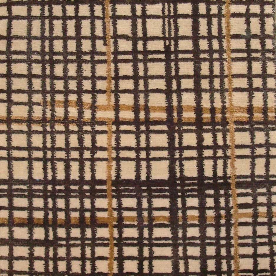 52. GRIDLOCK I ORANGE I 7-3 Wool & Silk