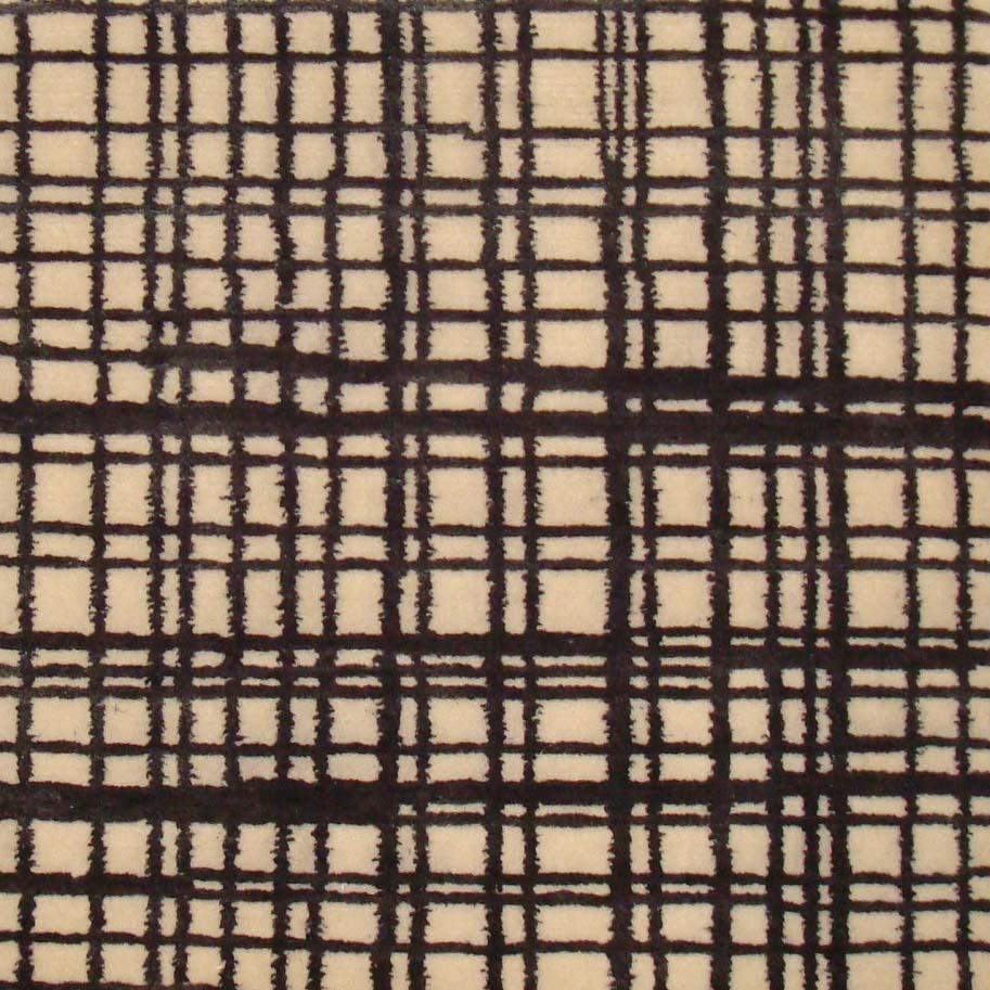 56. GRIDLOCK I BLACK I 7-3 Wool & Silk